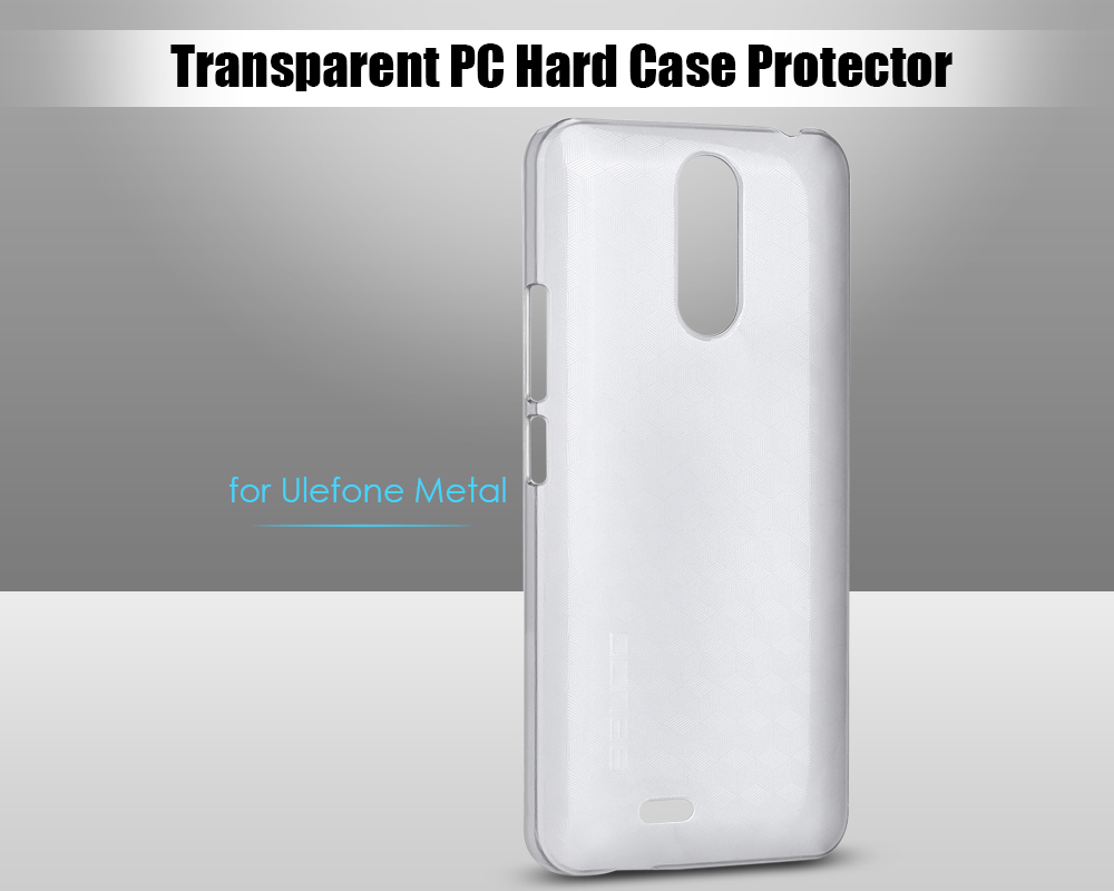 OCUBE Transparent PC Phone Back Case for Ulefone Metal Ultra Thin Mobile Shell Protector