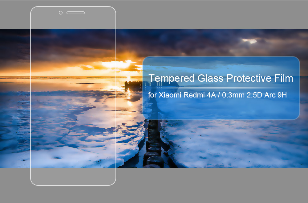 Tempered Glass Screen Protective Film for Xiaomi Redmi 4A Ultra-thin 0.3mm 2.5D 9H Explosion-proof Protector