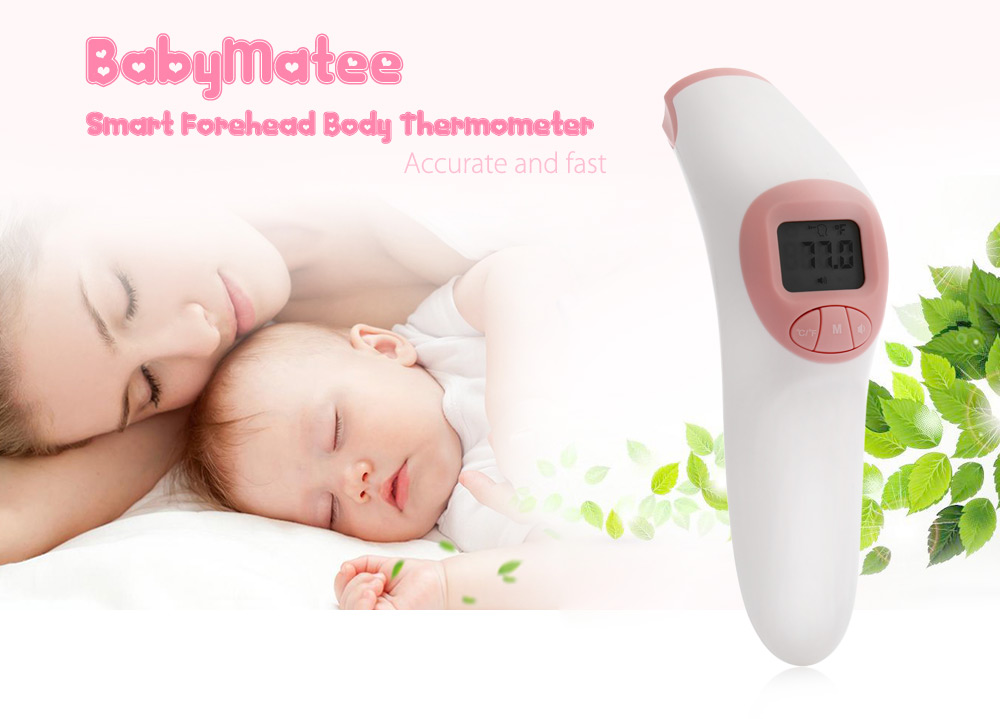 BabyMatee Smart Forehead Body Thermometer for Baby Elder People
