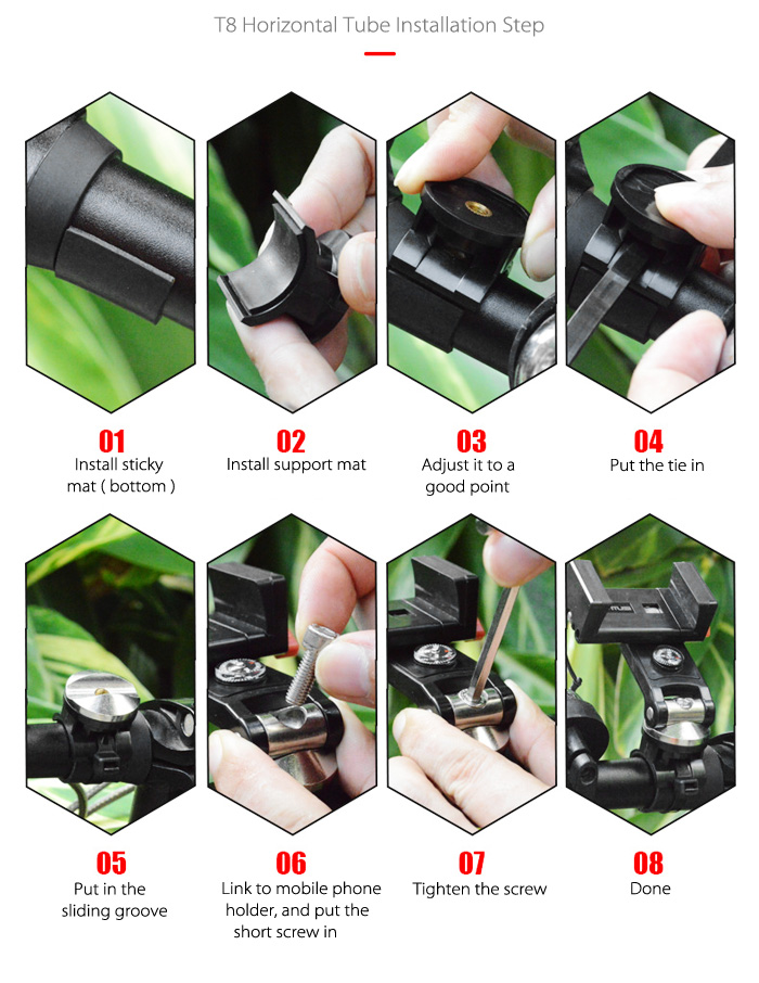 ANTUSI T8 Universal Mobile Phone Holder for Bikes Motorcars Outdoor Cycling