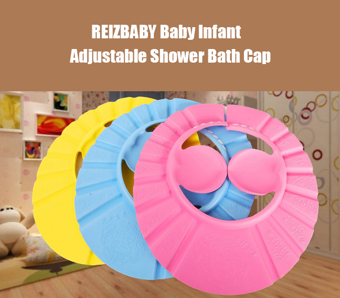 REIZBABY Baby Infant Adjustable Shower Bath Cap