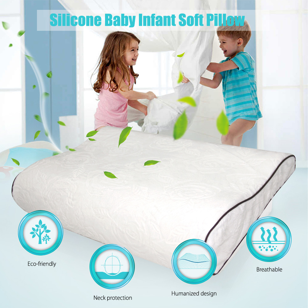 Silicone Baby Infant Elastic Soft Pillow Bedroom Bedding