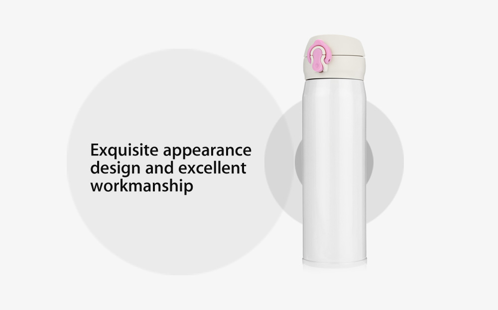 Creative 450ml Stainless Steel Vacuum Cup Insulated Water Bottle