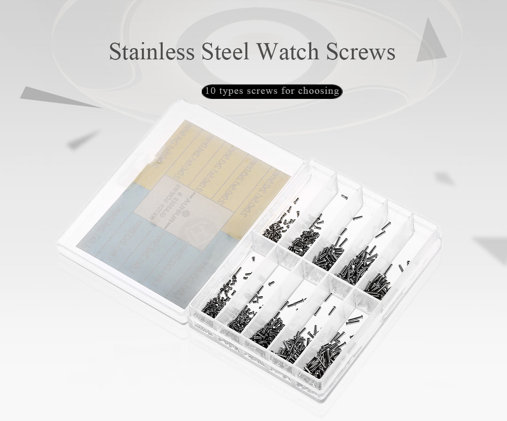 RUIHUA Boxed Stainless Steel Wristwatch Screw Set