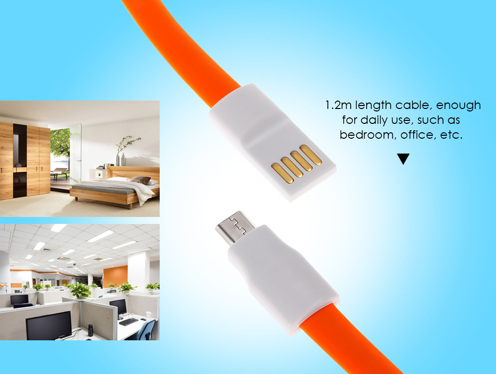 Original Xiaomi Noodle Flat USB 2.0 to Micro USB Data Transfer Charging Cable - 1.2m