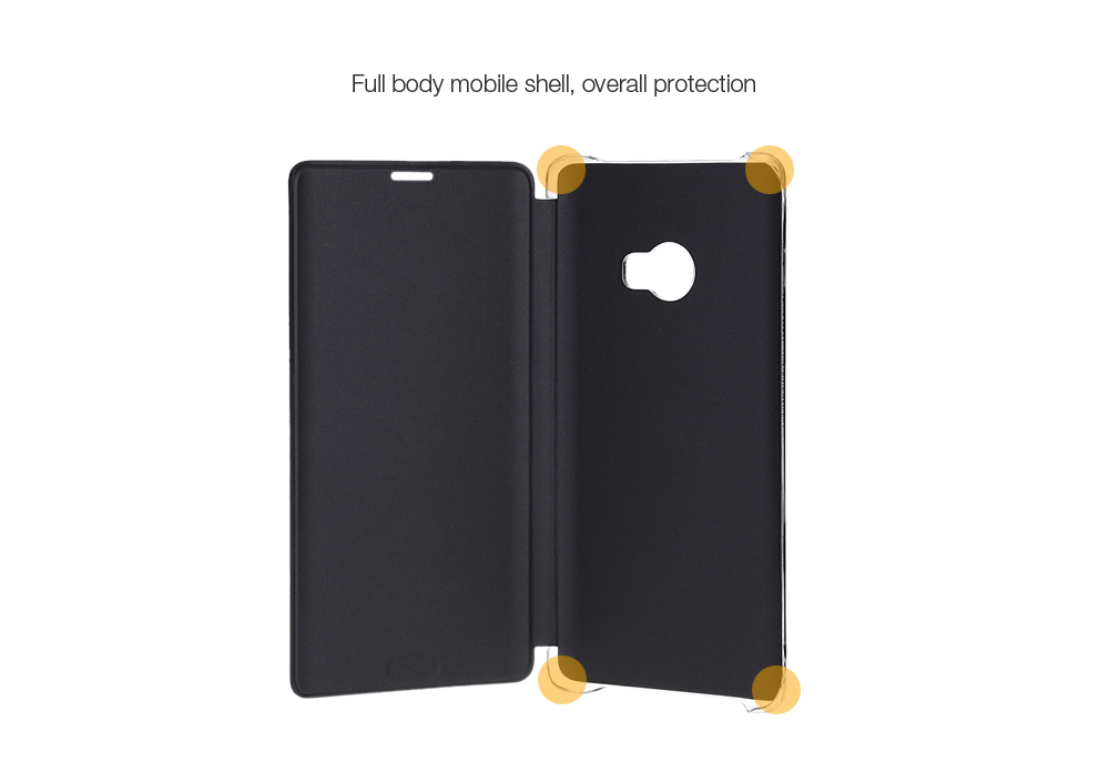 Original Xiaomi PU Leather Full Body Protective Case Smart Auto Wake-up for Note 2