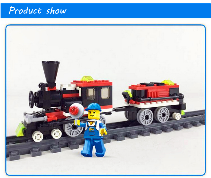 Train ABS Miniature Kit with Figure DIY Building Block Toy