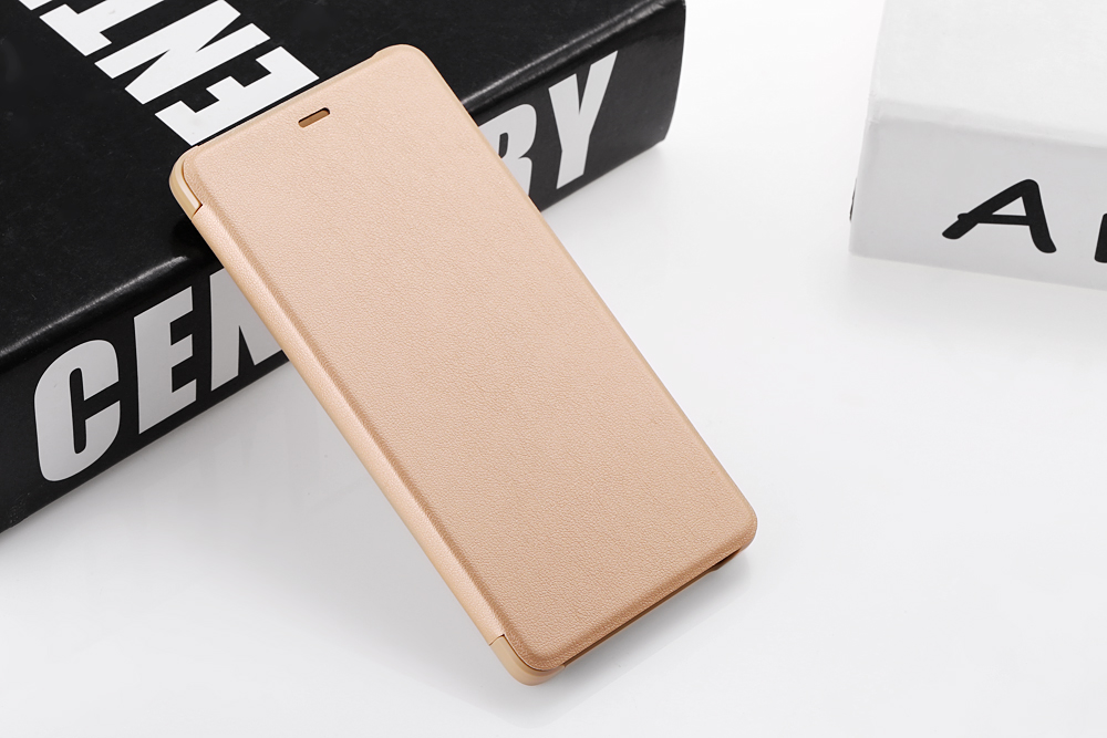 Original Xiaomi PU Leather Full Body Protective Case Smart Auto Wake-up for Redmi 4 High Version