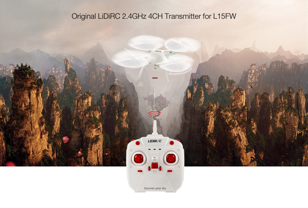 Original LiDiRC 2.4GHz 4CH Transmitter for L15FW