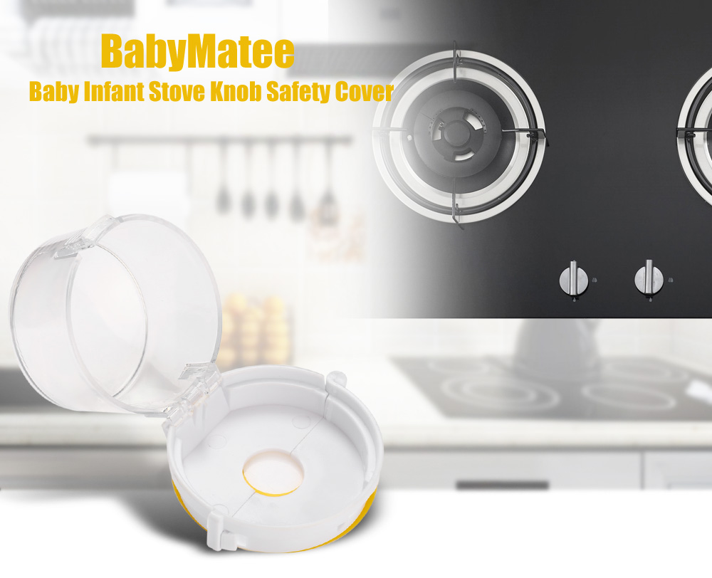 4PCS BabyMatee Baby Infant Stove Knob Safety Cover Protector