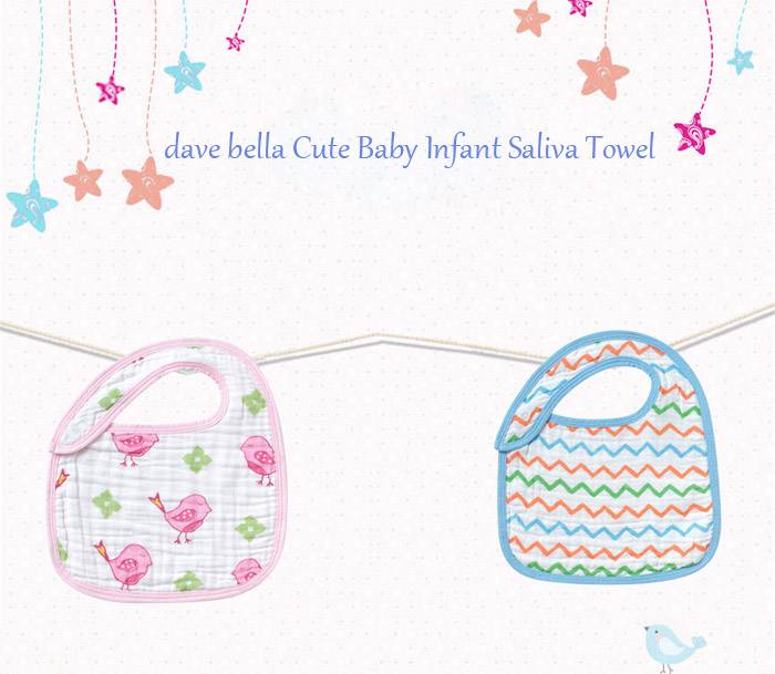 dave bella Cute Cartoon Baby Infant Saliva Towel Child Bib