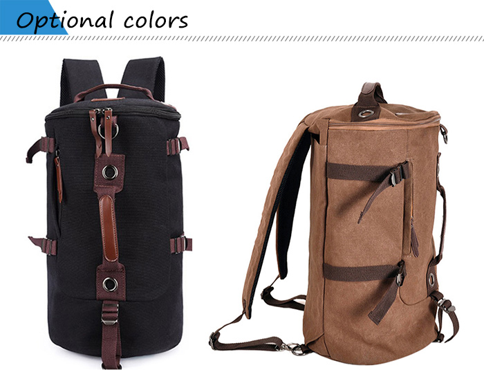 30056 Multi-use Canvas 38L Travel Backpack / Sling Bag with Sunglasses