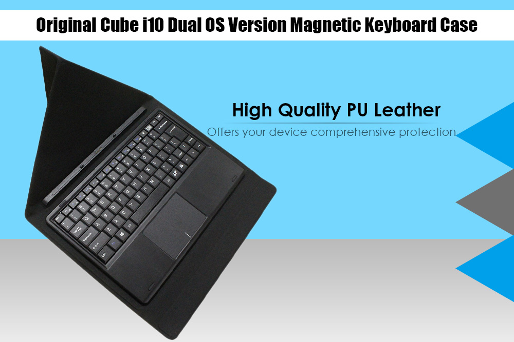 Original Cube i10 10.6 inch Dual OS Version Keyboard Protective Case Magnetic Docking PU Leather