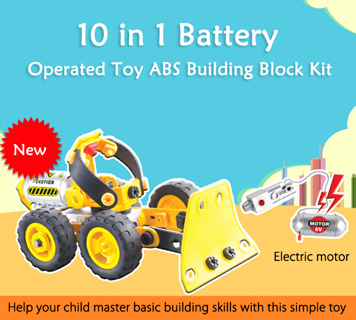Deformable 10 Model Educational Car Assembly Building Block with Modeling Guide