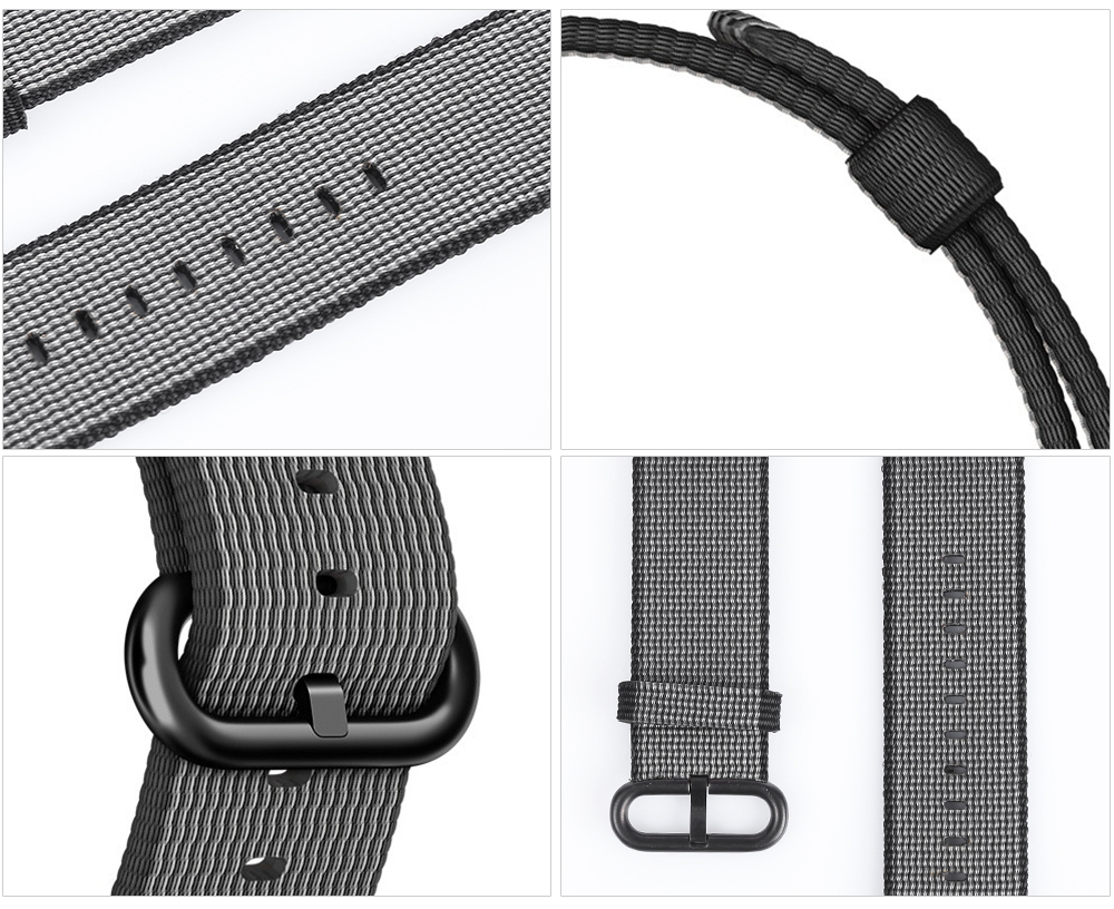 Nylon Watch Strap Wristband Replacement Contrast Color for Apple Watch 42mm