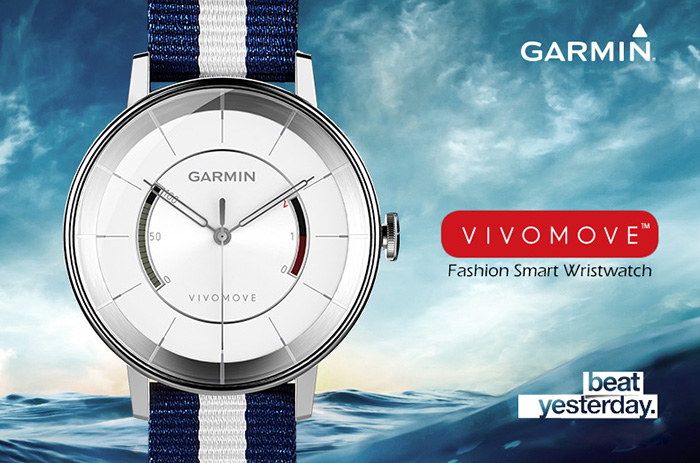 GARMIN vivomove Fashion Smart Wristwatch with 50M Waterproof Grade