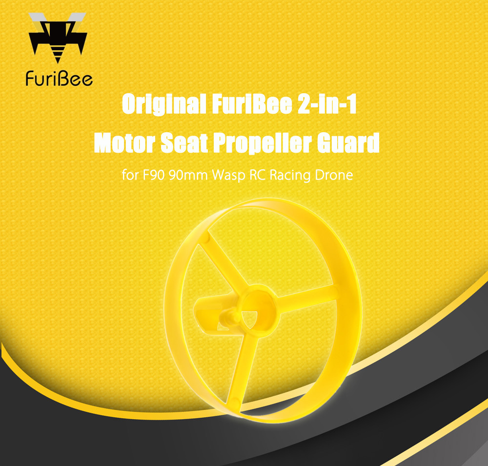 FuriBee 2-in-1 Motor Seat Propeller Guard 4pcs for F90 90mm Wasp RC Racing Drone