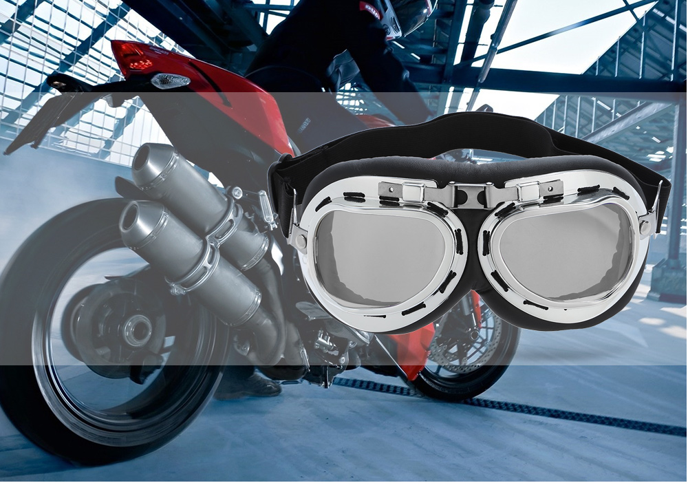 UV-resistant Protective Glasses Windproof Motorcycle Goggle for Outdoor Sports