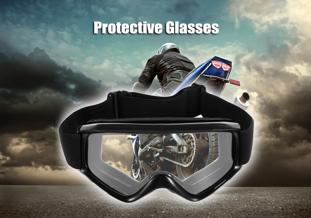 Motorcycle Protective Glasses Goggle with Foldable Frame / Double-layer Pad