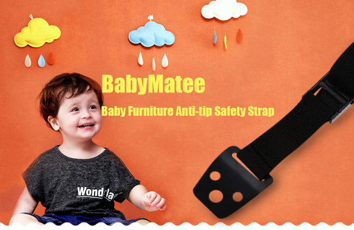 6PCS BabyMatee Baby Infant Furniture Anti-tip Safety Strap for Home