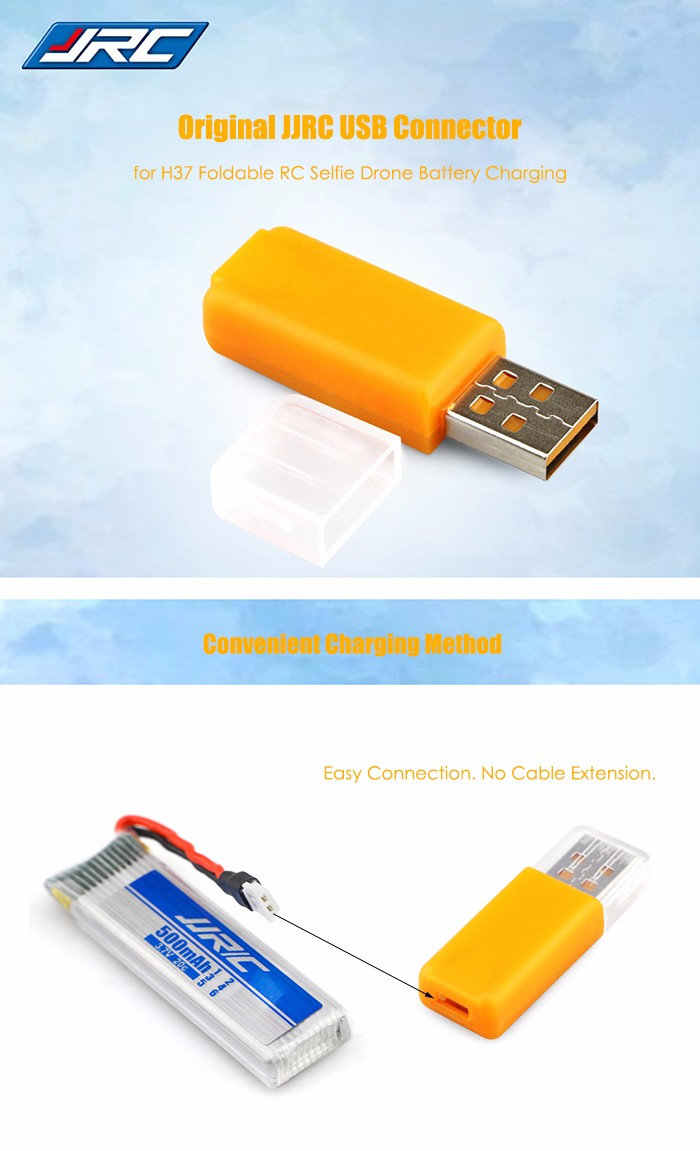 Original JJRC USB Connector for Charging H37 Foldable RC Quadcopter Battery