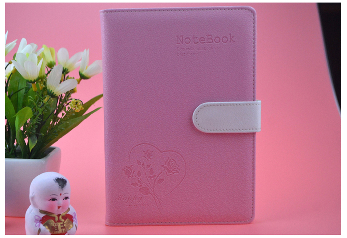 Leather Cover Business Magnetic Snap Colorful Notebook