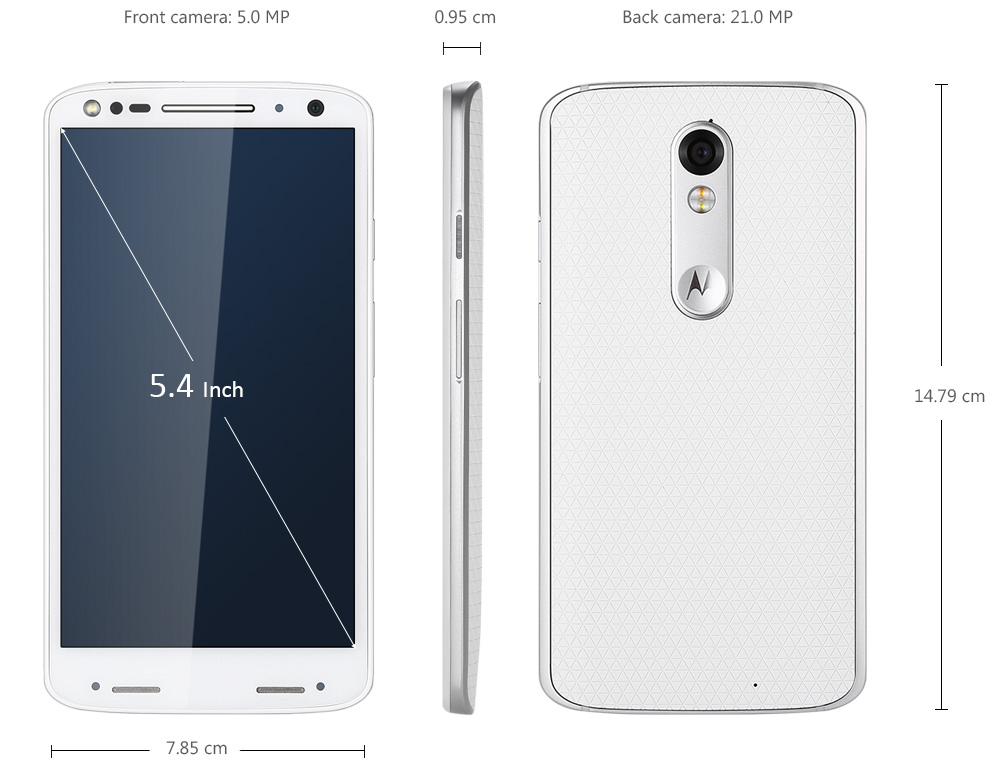 Motorola MOTO X ( 1581 ) 5.4 inch Android 5.1 4G Smartphone Snapdragon 810 Octa Core 2.0GHz 3GB RAM 64GB ROM 21.0MP Rear Camera