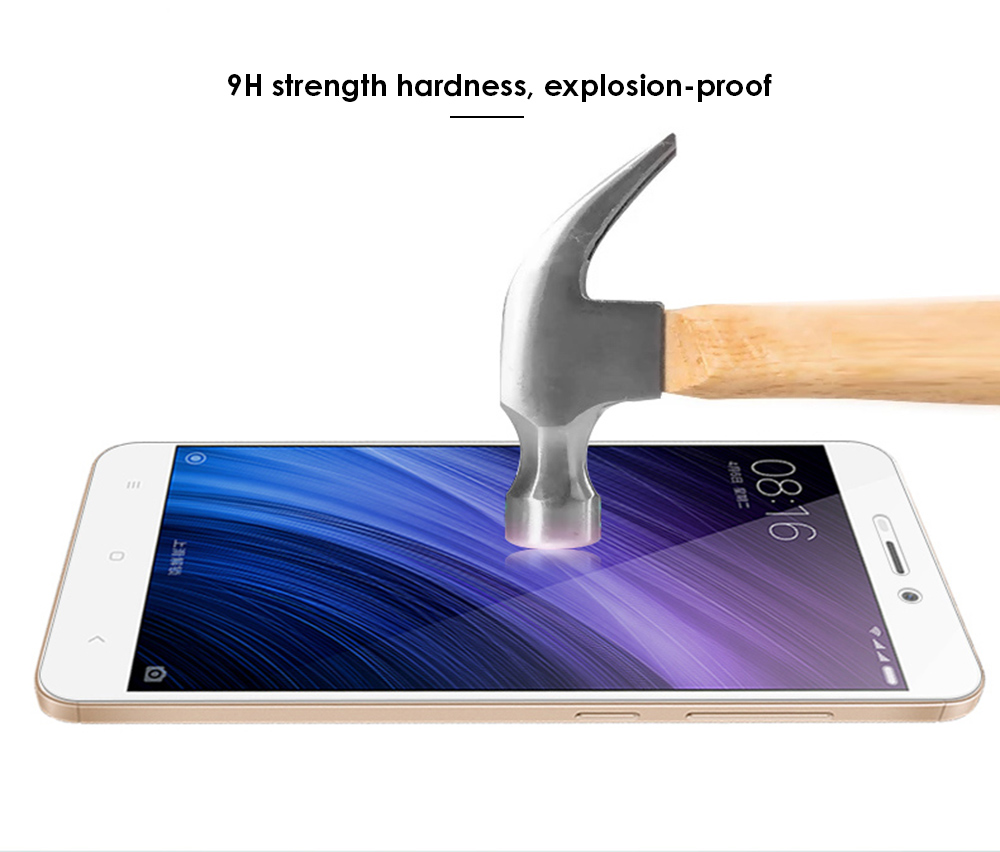 Luanke Tempered Glass Screen Protective Film for Xiaomi Redmi 4A Ultra-thin 0.26mm 2.5D 9H Explosion-proof Protector