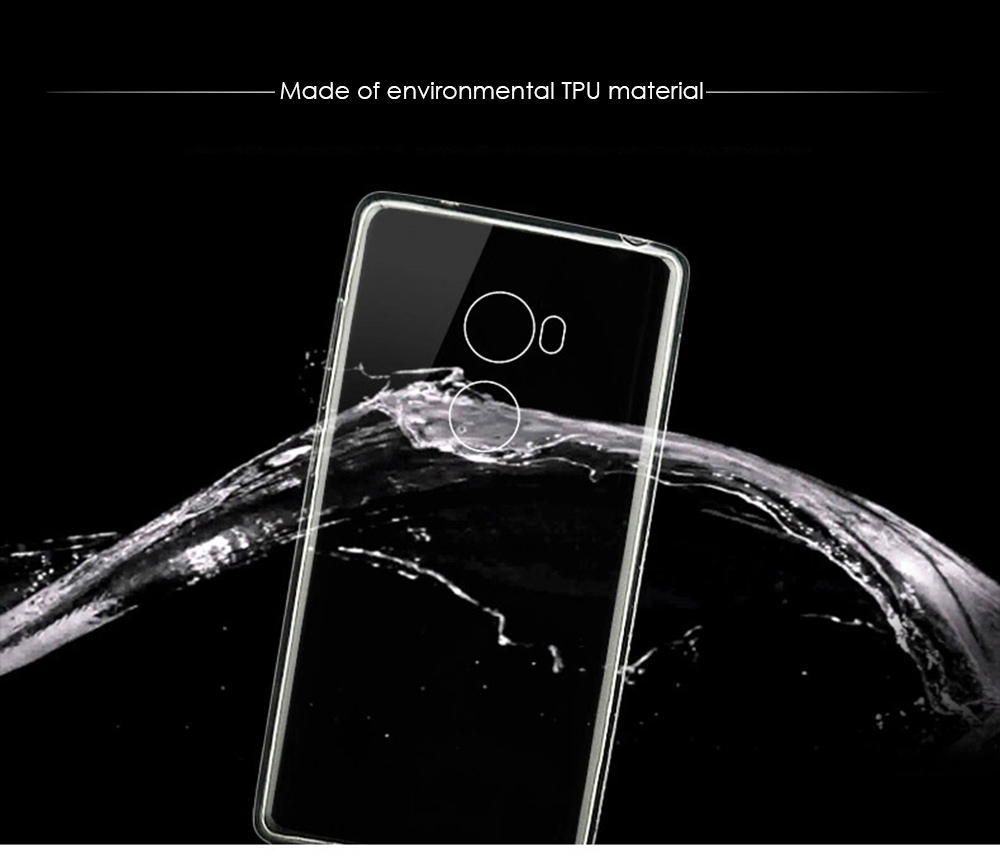 Luanke Transparent TPU Soft Case Protective Cover Phone Protector for Xiaomi Redmi 4 Standard Edition