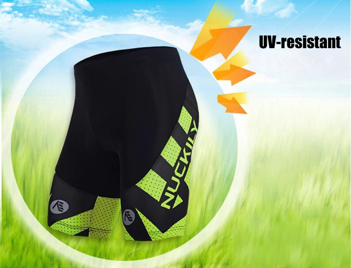 NUCKILY Breathable UV-resistant Male Cycling Short Pants