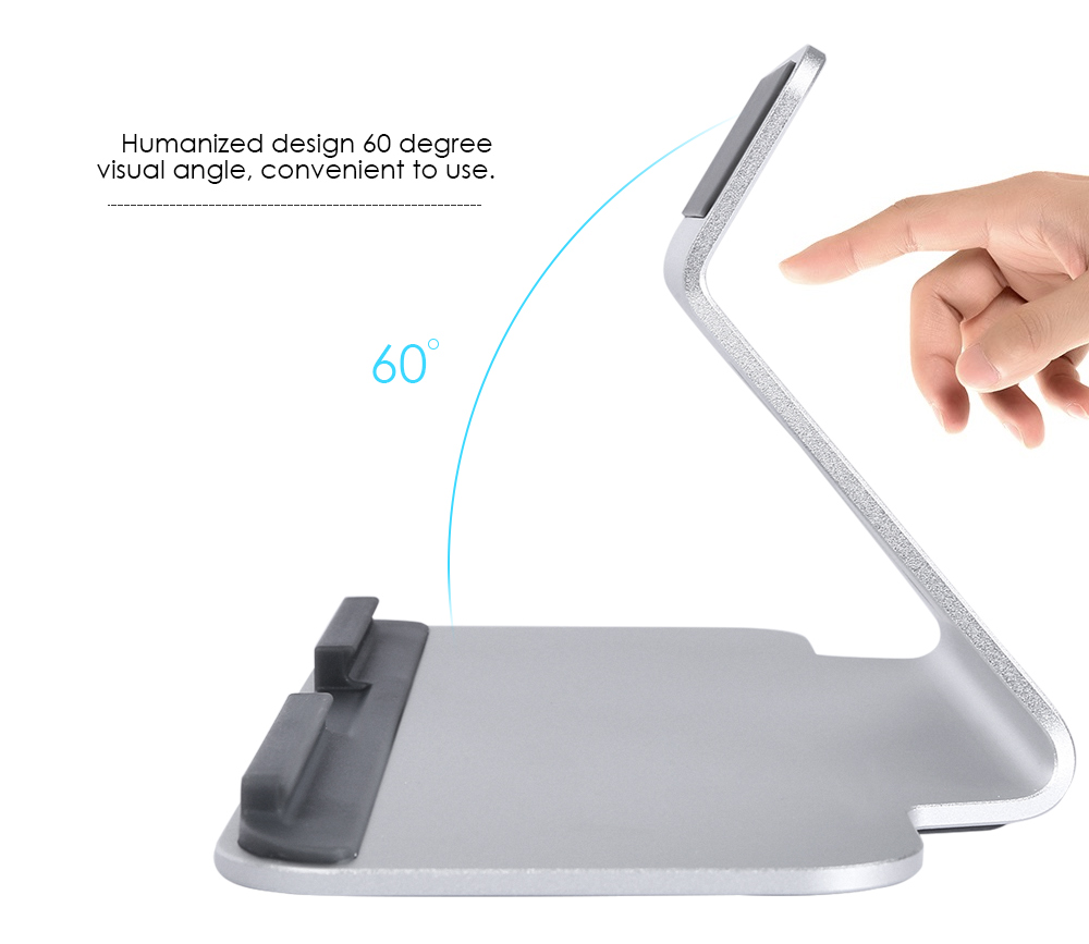 Aluminum Alloy Tablet PC Desktop Bracket Holder Rubber Anti-slip Pad for 7 - 13 inch Devices