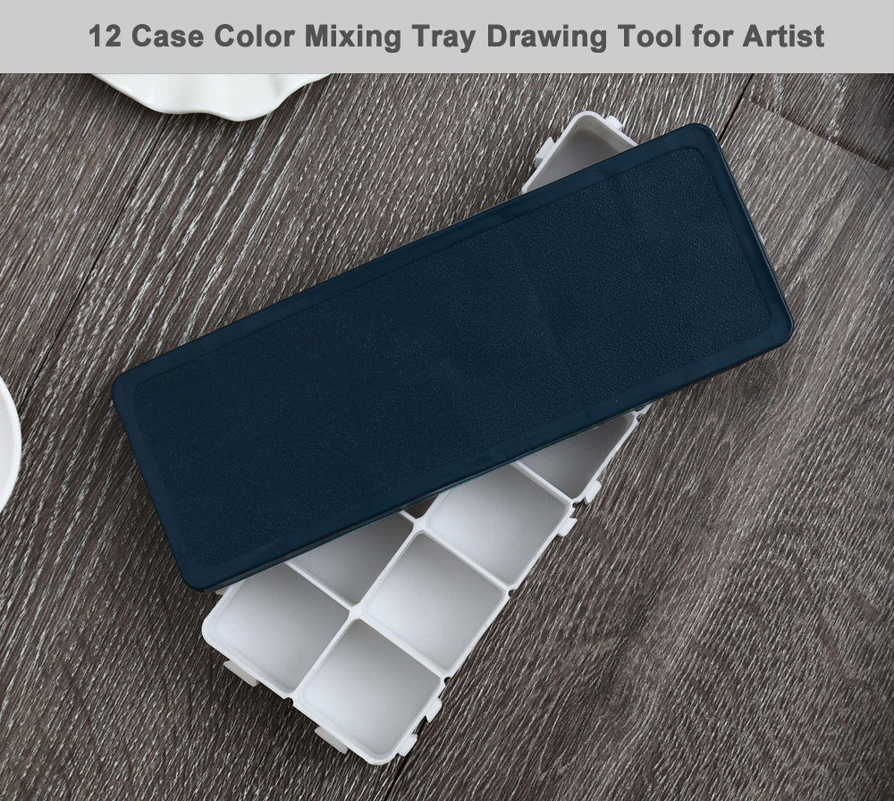Paint Tray Color Mixing Palette with 12 Case for Painting