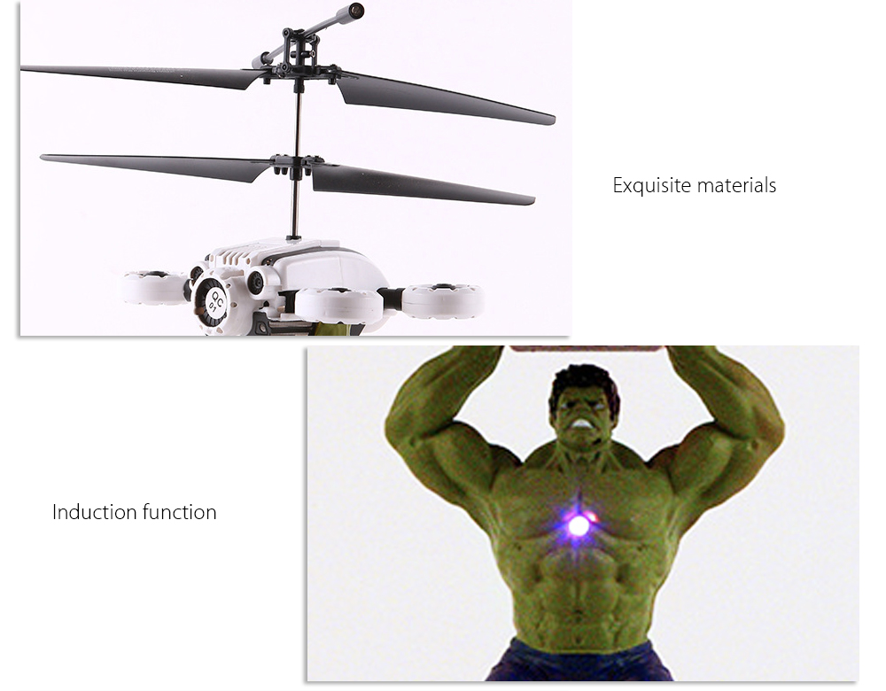 ZOYO Hero Style Infrared Control Helicopter Robotic Toy with Colorful Light