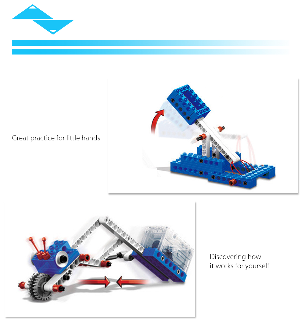 4 in 1 Mechanical Theme Building Block Electric Toy