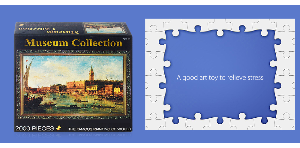 3D Paper Oil Painting Puzzle Block Toy Birthday Christmas Present