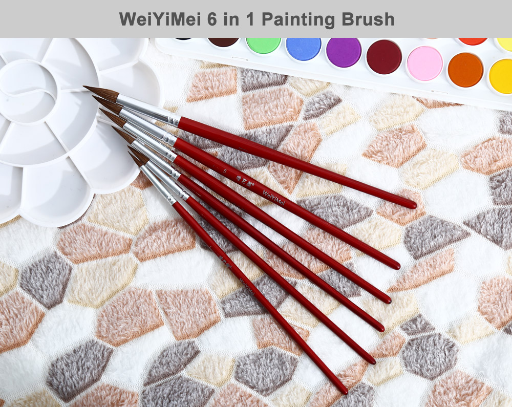 WeiYiMei 6 in 1 Painting Brush Drawing Tool