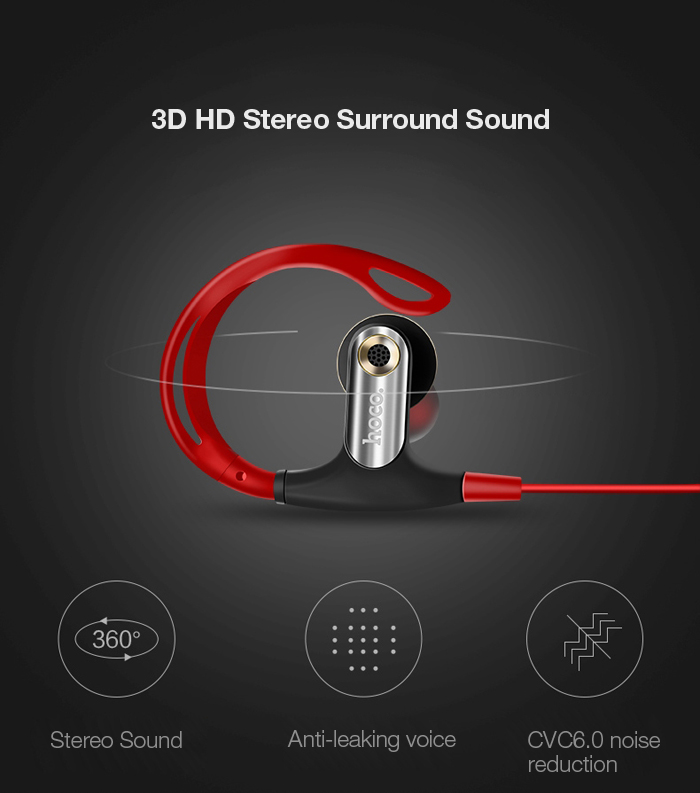 HOCO L2 Stereo Digital Earphones Sports In-ear Earbuds 8 Pin Jack for iPhone 7 / 7 Plus Volume Control