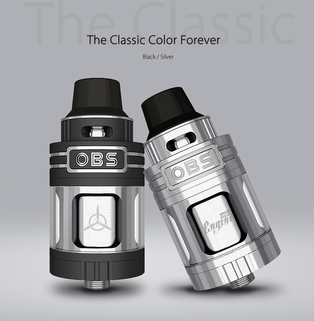 Original OBS Engine Mini RTA with 3.5ml Capacity / Top Airflow / Side Filling / Powerful DIY Deck for E Cigarette