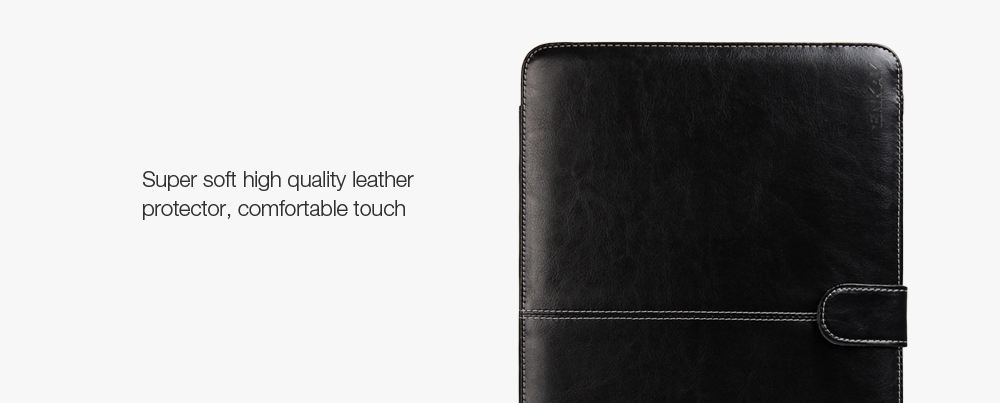 ENKAY Super Soft PU Leather Protective Full Body Case for MacBook Pro 15.4 inch with Retina Display