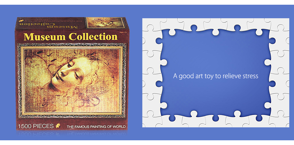 Paper Oil Painting 3D Puzzle Block Toy Birthday Christmas Present