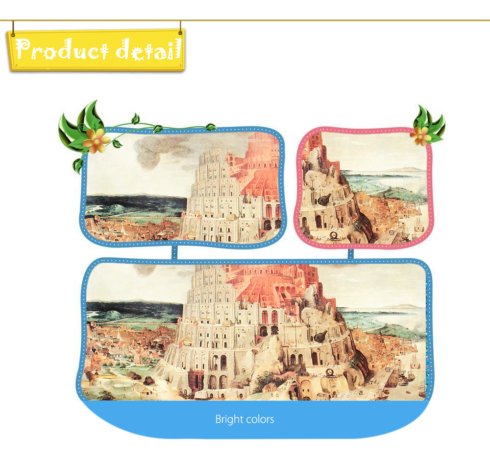 Children Adult Painting Puzzle Block Toy 3D Paper Birthday Christmas Present