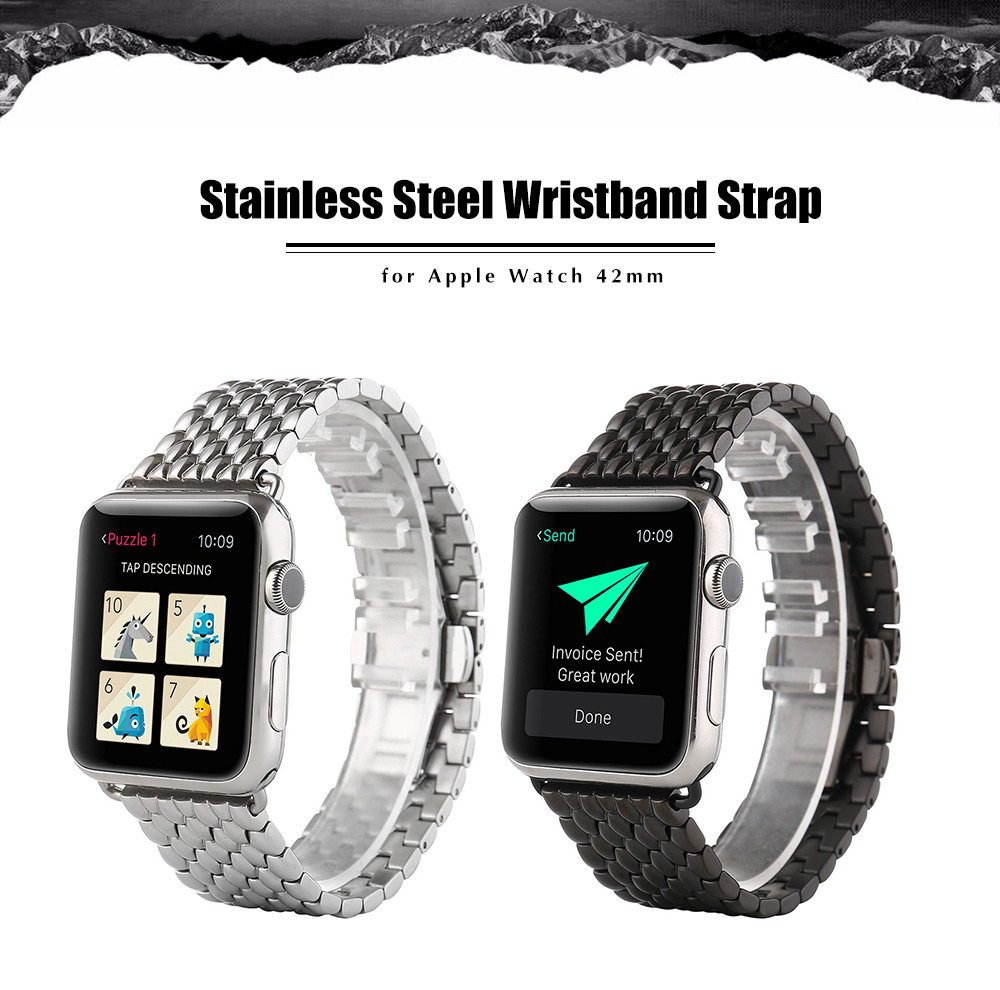 Classic Watch Band Replacement Stainless Steel Strap Wristband for Apple Watch 42mm