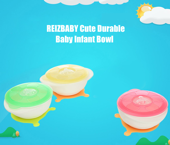 REIZBABY Cute PP Baby Infant Bowl with Suction Cup