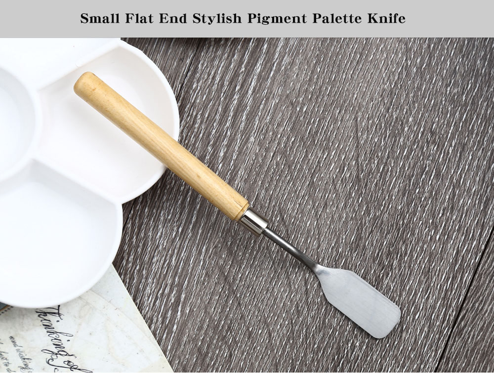 Small Flat End Hot Sale Pigment Palette Knife