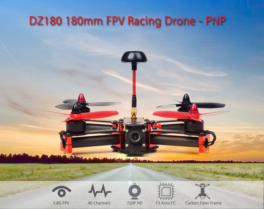DZ180 180mm FPV Racing Drone PNP 5.8G 720P with F3 Acro FC BLHeli 20A ESCs BX1806 Motors