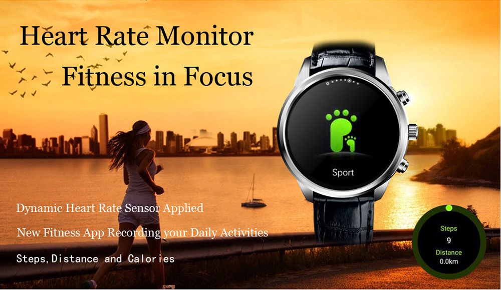 FINOW X5 Plus 1.39 inch Smartwatch Phone Android 5.1 3G MTK6580 Quad Core 1.3GHz 1GB RAM 8GB ROM Bluetooth 4.0