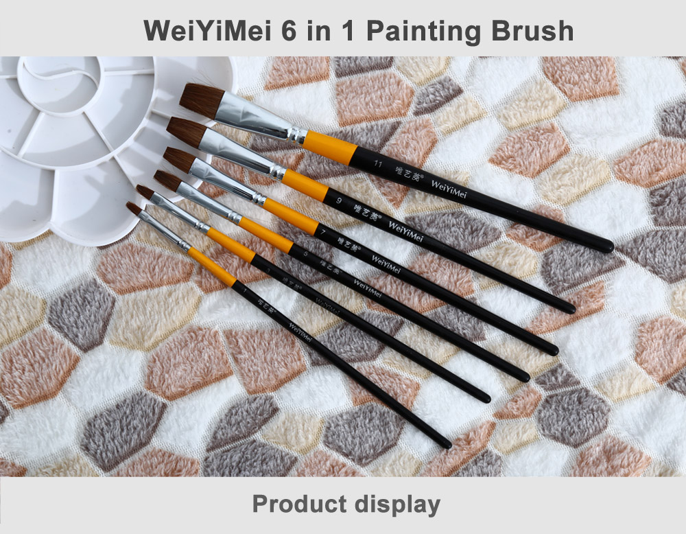 WeiYiMei 6 in 1 Paint Brush for Painting