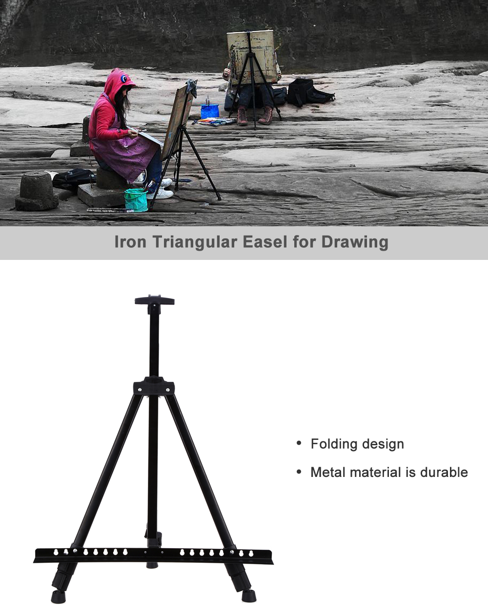 Iron Folding Easel for Drawing / Studio Sketch