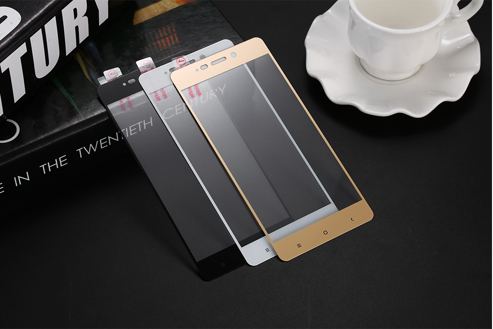 ASLING Tempered Glass Screen Protective Film for Xiaomi Redmi 4 0.26mm 9H 2.5D Arc Edge Full Cover Explosion-proof Protector