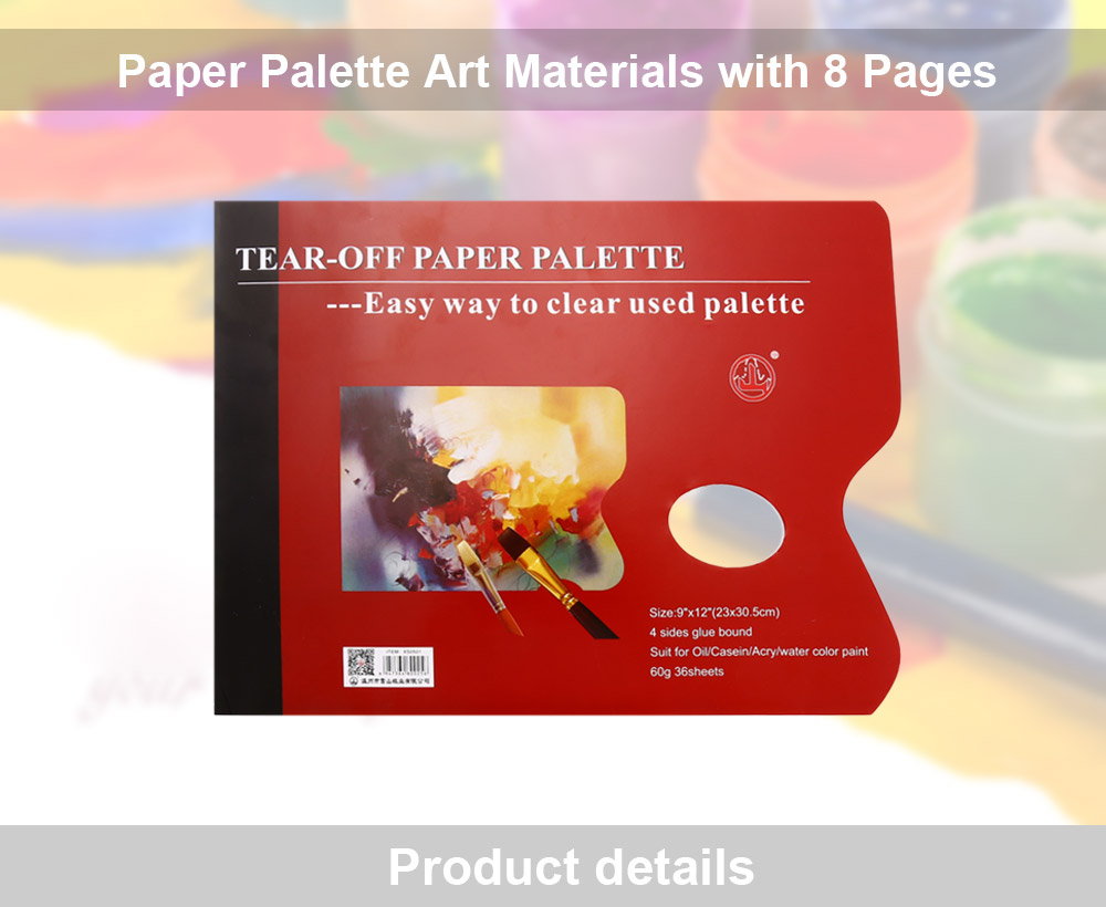 Paper Palette Art Materials for Mixing Accurate Color Values